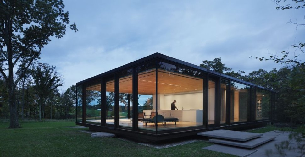 View In Gallery Steel Frame Sustainable Weekend House With All Gl Facade 2 Thumb 630x324 25742