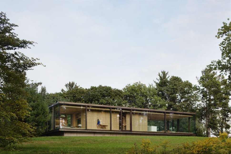 Steel Frame Sustainable Weekend House with All-glass ...