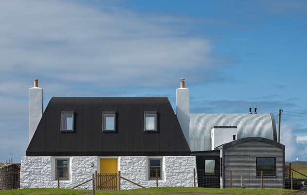 traditional scottish cottage reinvented with chic agricultural industrial flair 1 front straight thumb 630x400 23099 Traditional Scottish Cottage Reinvented With Chic Agricultural Industrial Flair