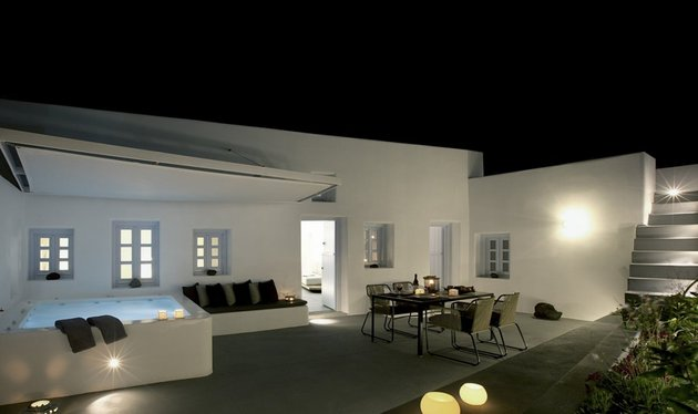 villa greece combines old world charm modern minimalism 1 courtyard thumb 630x374 23849 Villa in Greece Combines Old World Charm with Modern Minimalism
