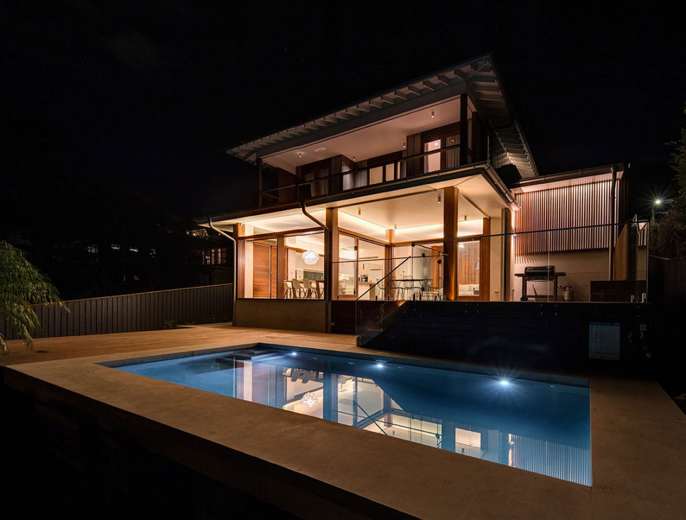 Australian Home With Spotted Gum Wood Details And Pool