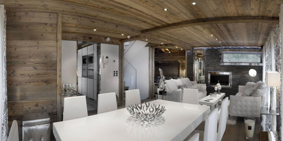 Elegant hi tech ski chalet in courchevel for Ski chalet home plans