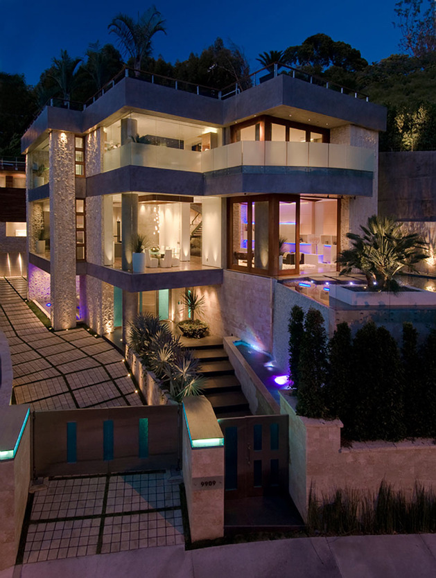 ultimate party house with multi colored lighting and waterfalls 1 thumb 630x834 29888 Ultimate Party House in Beverly Hills