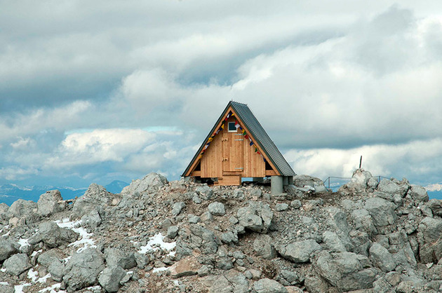 wooden a frame hikers rest cabin crowns alpine mountaintop 1 front main thumb 630x418 29818 Wooden A Frame Cabin Crowns Alpine Mountaintop