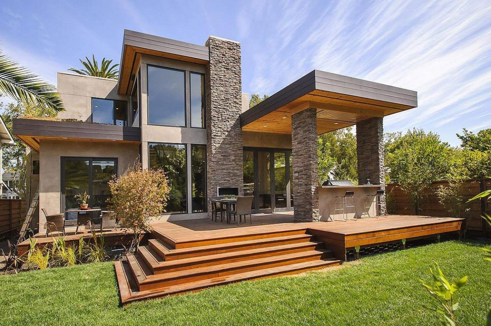 sip home designs. View in gallery balanced contemporary house  featuring natural materials sophistical style House with Outdoor Kitchen Setup