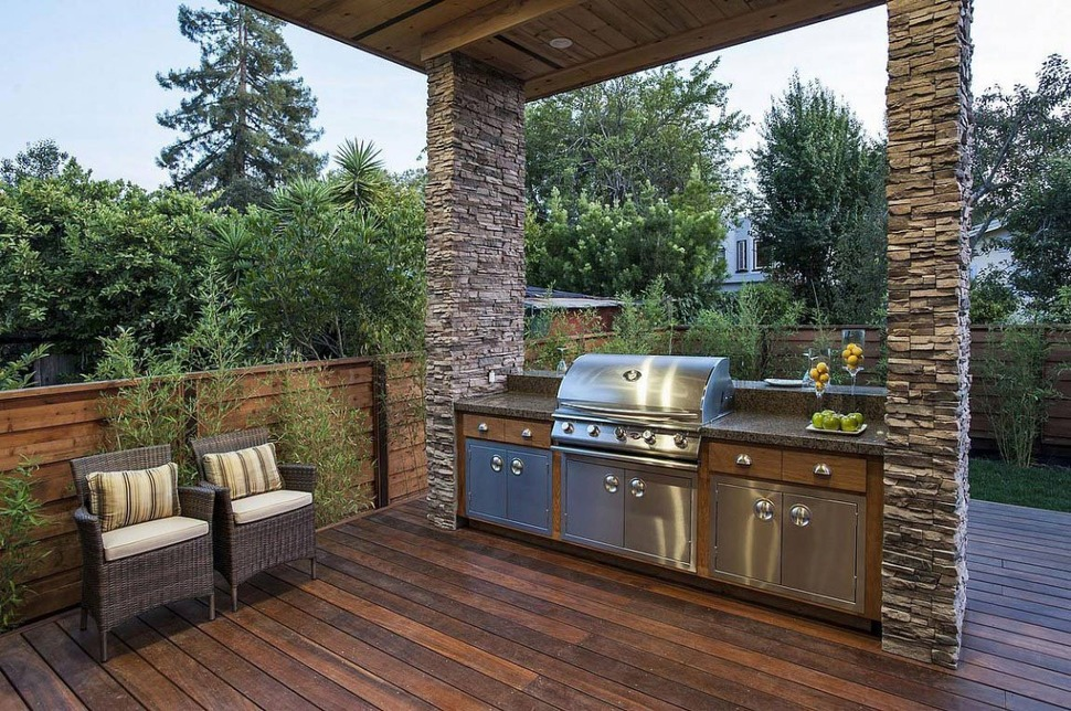 House with Outdoor Kitchen Setup | Modern House Designs on Modern Patio Design Ideas id=16537