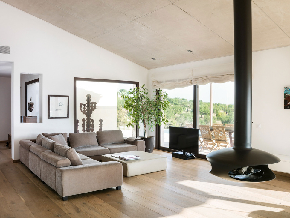 View In Gallery Family Home Combines Earth Tones Minimalist Aesthetic 4