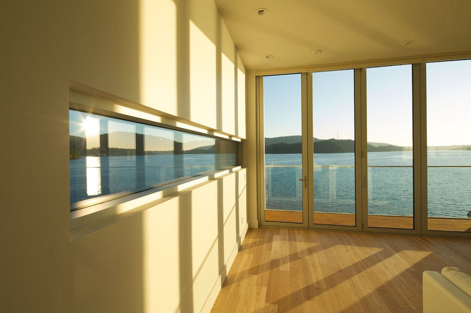 View in gallery modern cliff dwelling dock hugs steep mountainside 13 Modern Cliff Dwelling