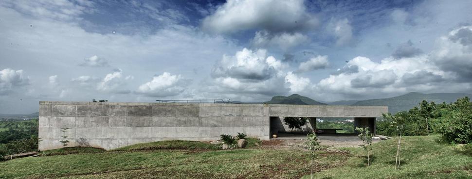 Concrete Bunker Like House Is Monsoon Proof