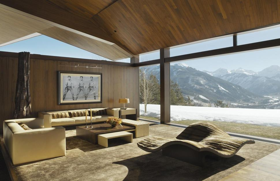 View In Gallery Mountain Views House With Interior Art Gallery 9