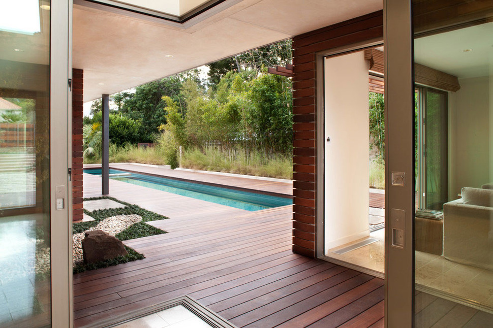 Platinum Level LEED Home with Pool House on minimalist pool design, zen pool comics, zen pool deck, zen pool book,
