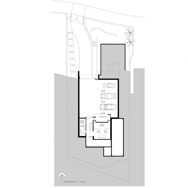 House with outdoor spiral staircase leading to rooftop deck for Spiral staircase plan