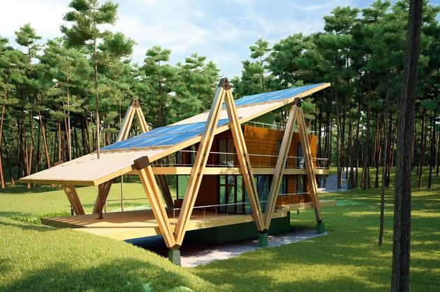 energy efficient grasshopper shaped house 1 thumb 630xauto 34563 Energy Efficient Grasshopper Shaped House