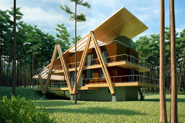 energy efficient grasshopper shaped house 2 thumb 630xauto 34565 Energy Efficient Grasshopper Shaped House