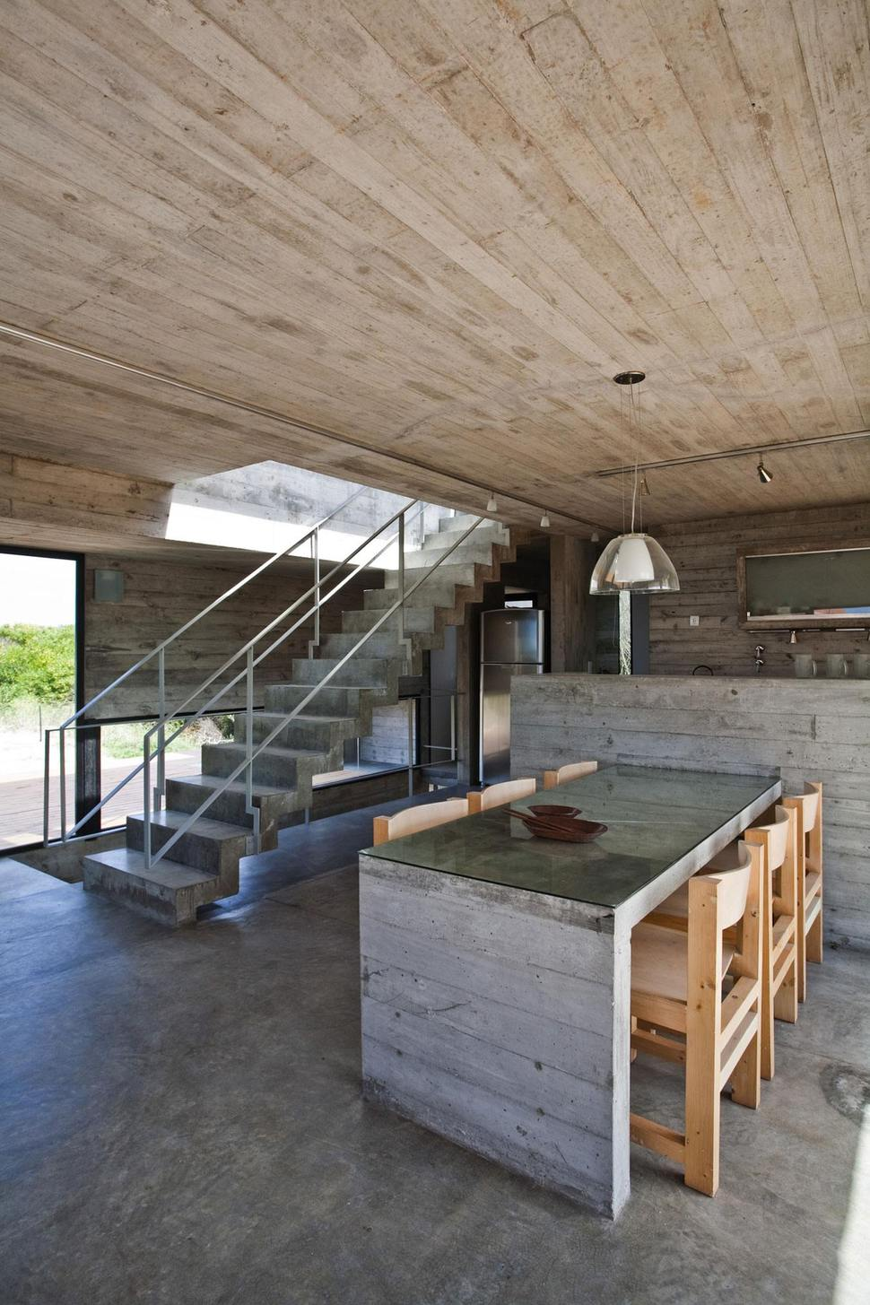Good View in gallery low maintenance concrete beach house dining