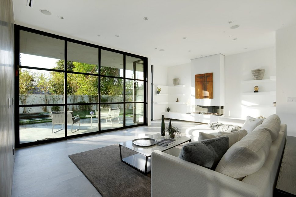 View In Gallery Contemporary Home Pool Black White Iterior 10 Living.