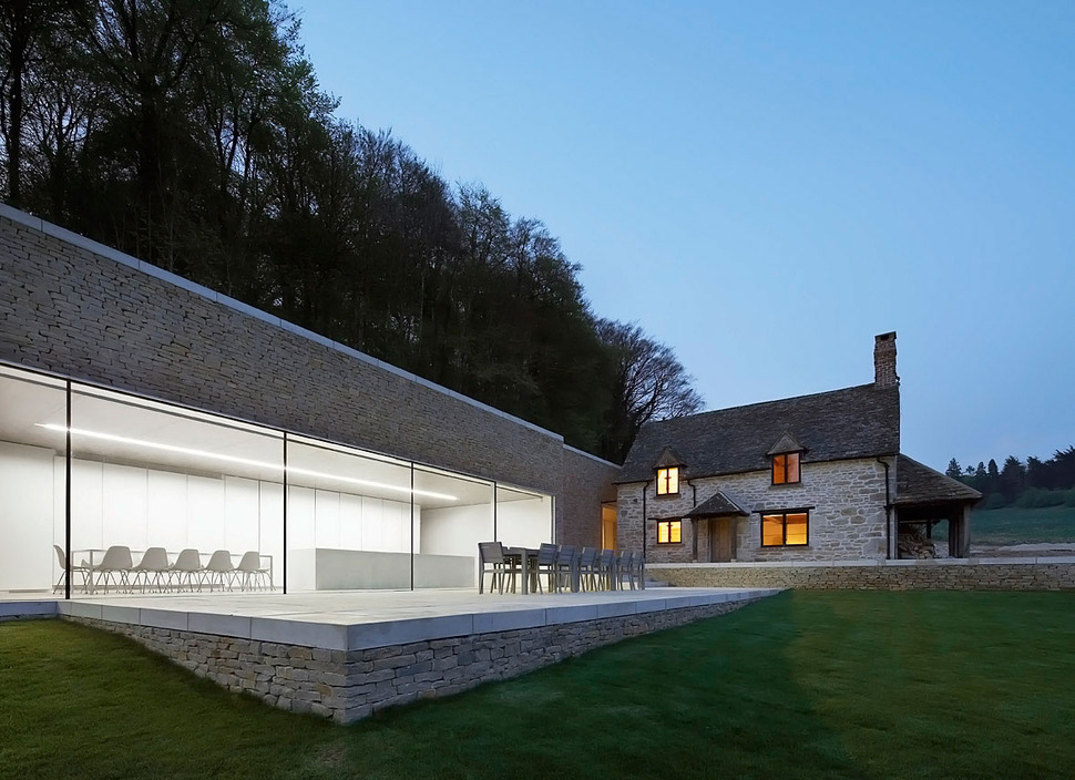 Minimal White Extension To Traditional British Home