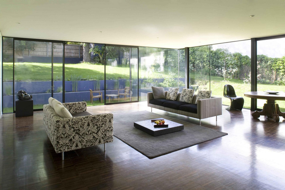 View In Gallery Cantilevered French House Design In Wood And Glass