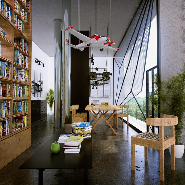 contemporary-lakeside-home-faceted-windows-cantilevered-volumes-6-library.jpg