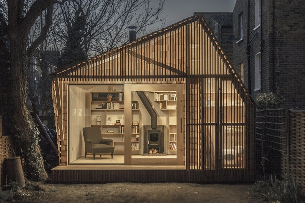 contemporary writing shed hidden in urban environment 2 night close straight thumb 630xauto 40215 Contemporary Writing Shed Hidden In Urban Environment