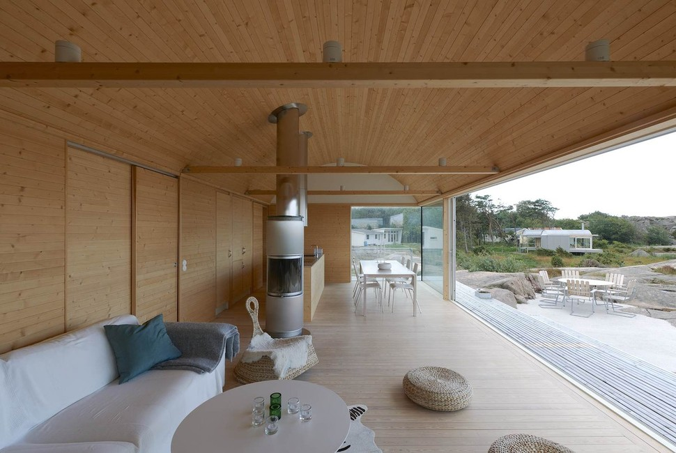 View In Gallery Corrugated Metal Beach Houses With Wood Interiors 7