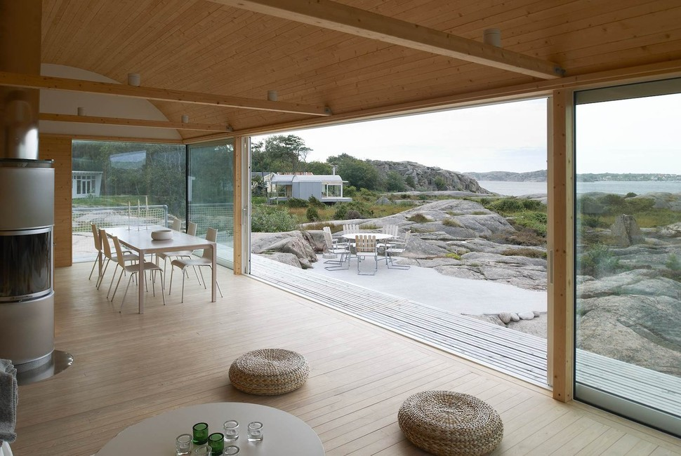 View In Gallery Corrugated Metal Beach Houses With Wood Interiors 8
