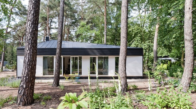cozy asymmetrical home with wood variety 1 front through trees thumb 630xauto 39680 Cozy Asymmetrical Home With Wood Variety