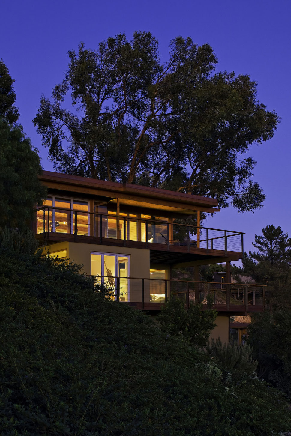 Hillside Home Opened Up With A Post And Beam Makeover