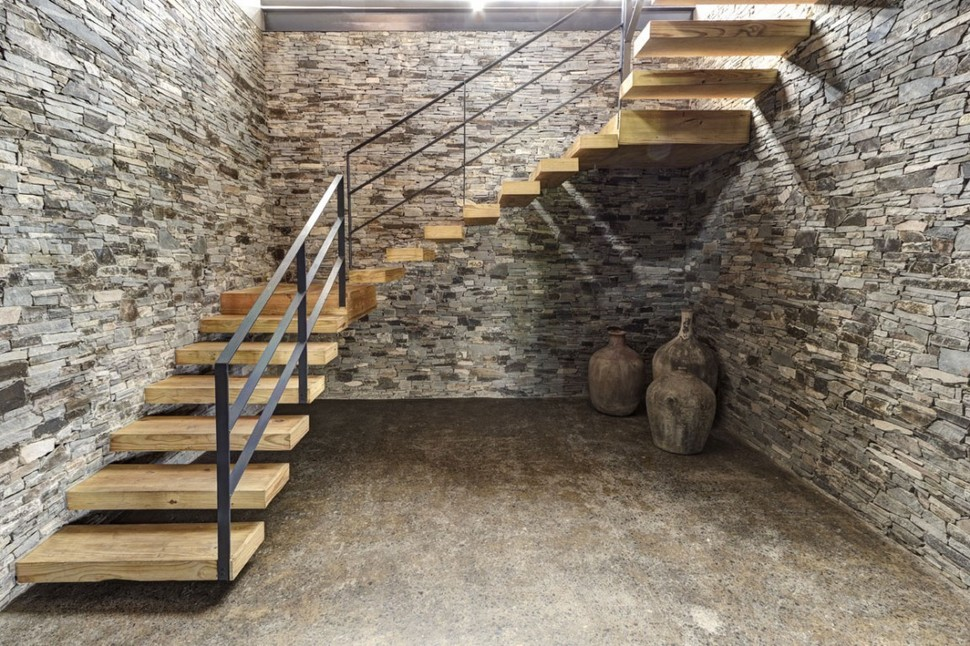 Modern Day Hacienda With Stone Walls