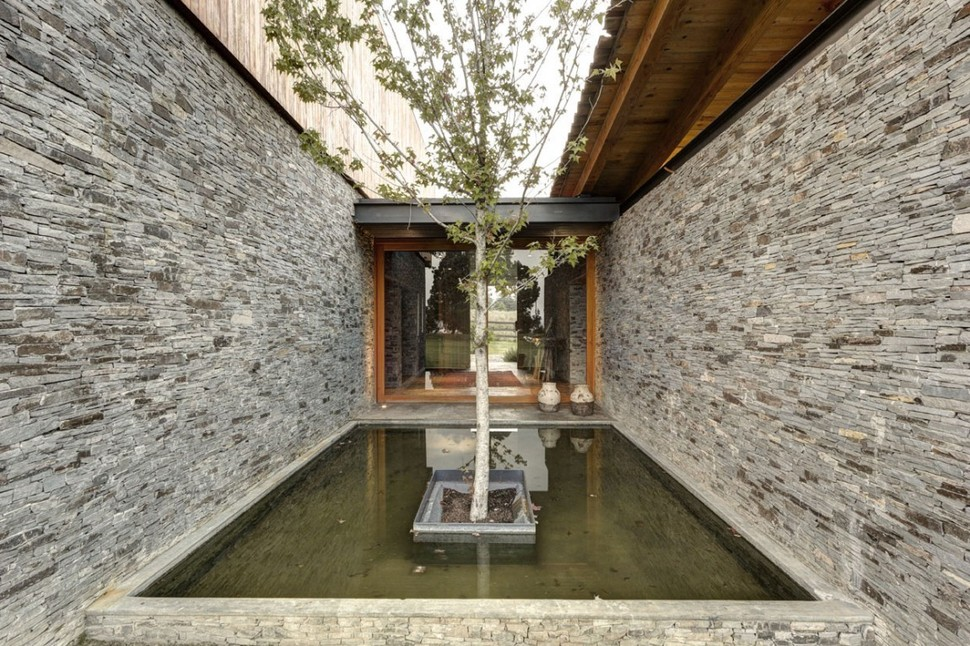 View In Gallery Modern Day Hacienda With Stone Walls 7