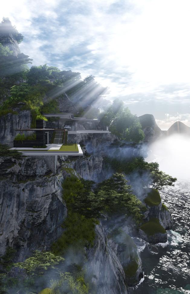 poetic home design concept perches cliff overlooking sea 2 thumb autox972 38311 Poetic Home Design Concept Perches on Cliff Overlooking Sea
