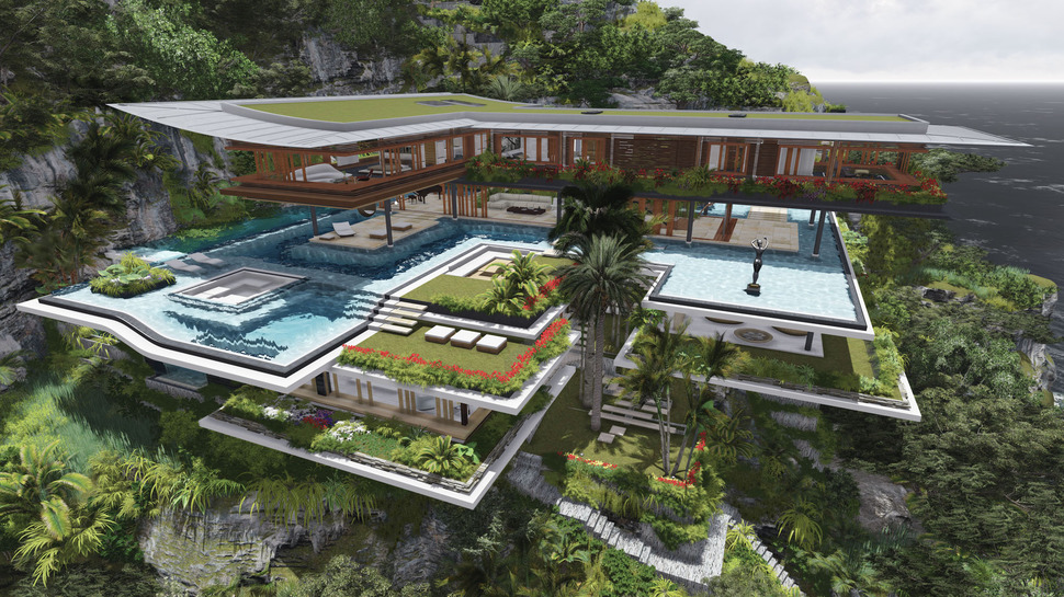 Poetic Home Design Concept Perches on Cliff Overlooking ...