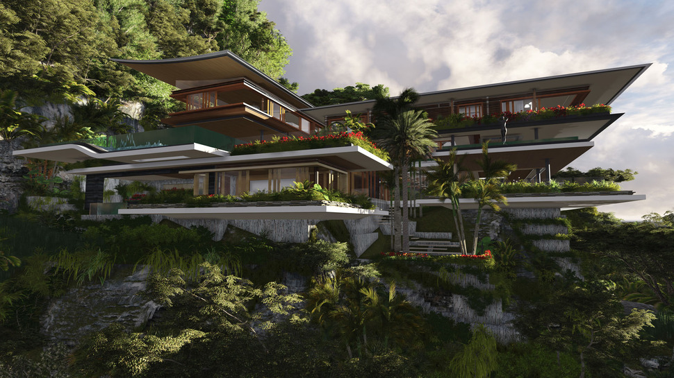 Poetic Home Design Concept Perches on Cliff Overlooking Sea