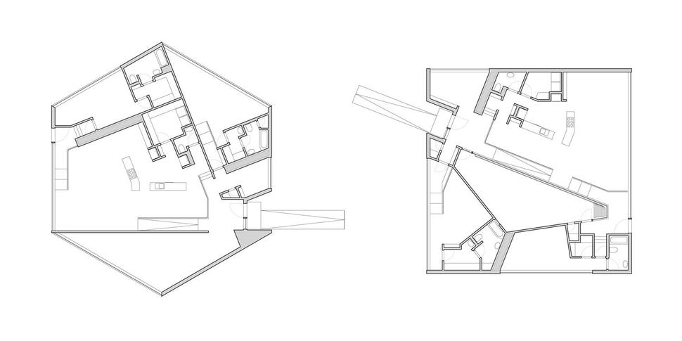 2 Completely Different Homes Created With The Same 5 Shapes