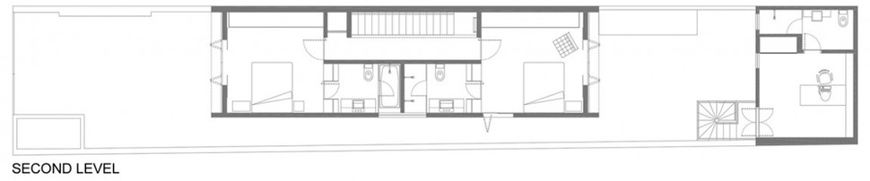 Narrow And Long House Plan Adapted For Beautiful Ergonomic