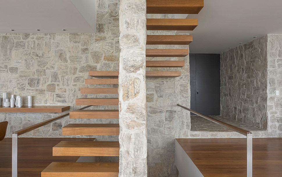 View In Gallery Contemporary Hillside Luxury House Made From Stone 8