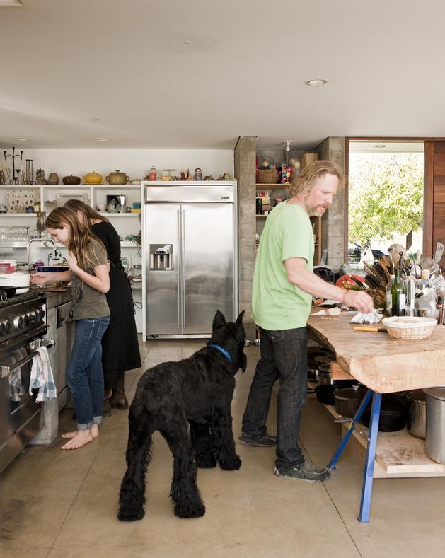 prefab-concrete-farmhouse-cypress-slab-table-salvaged-branch-crystal-chandelier-4-kitchen .jpg