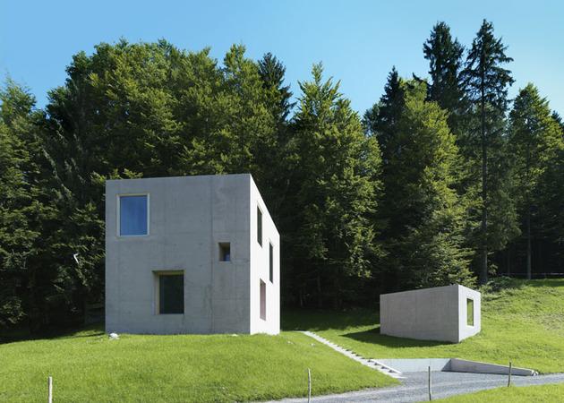 two concrete cubes comprise main guest house 1 site thumb 630xauto 42496 Two Concrete Cubes Comprise Main and Guest House