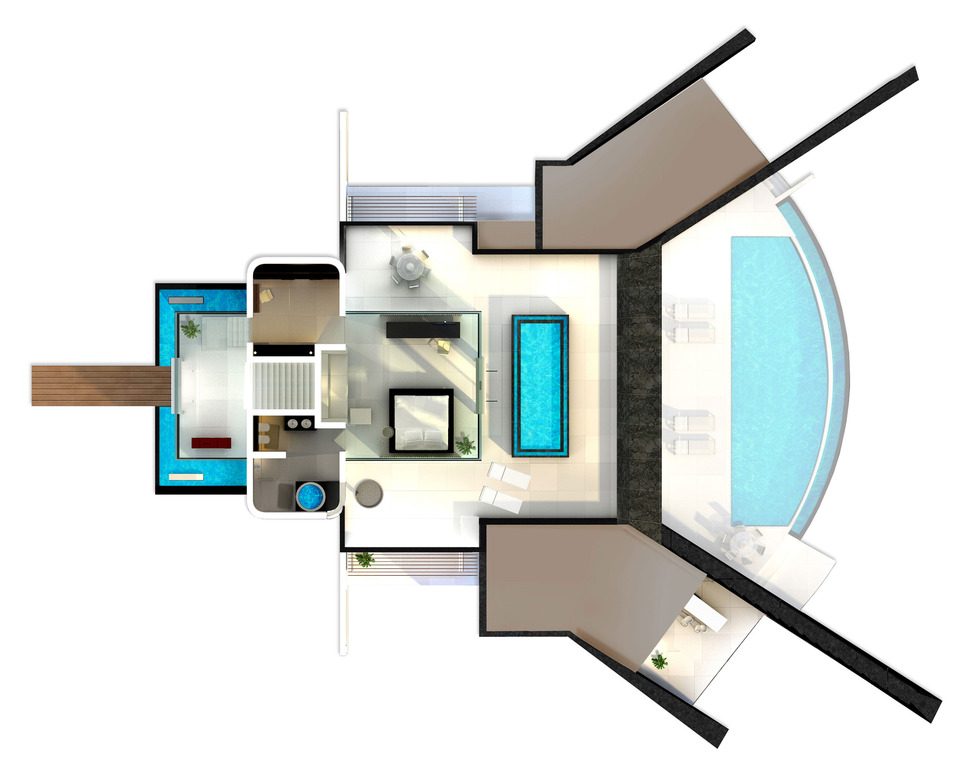 New View in gallery home infinity pool glass bottomed pool rendered d