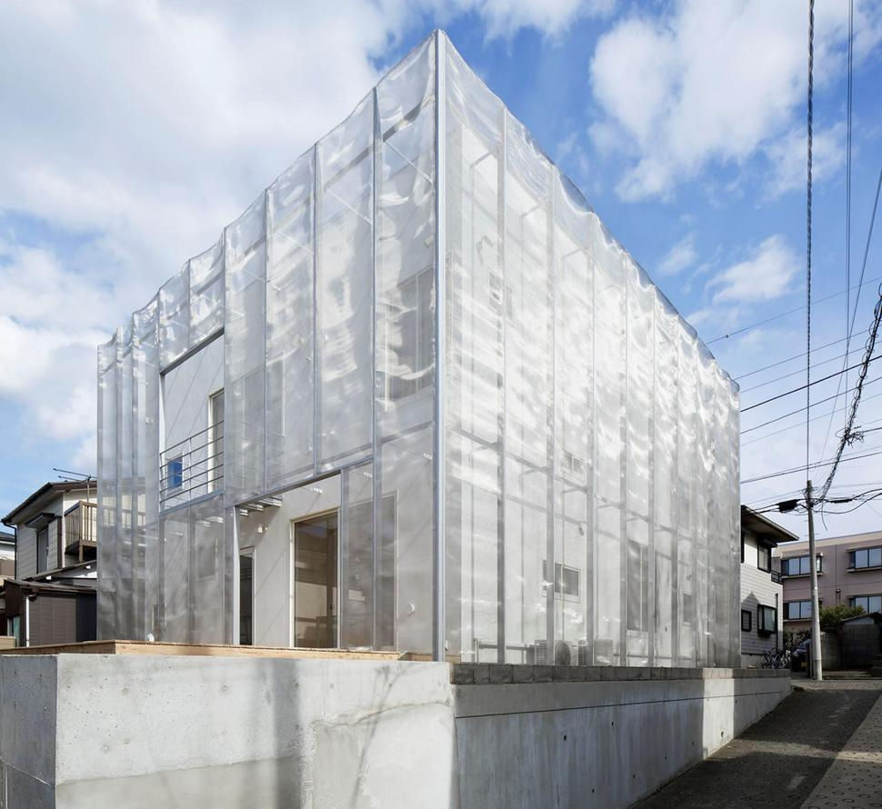 House Wrapped In Stainless Steel Net For Security
