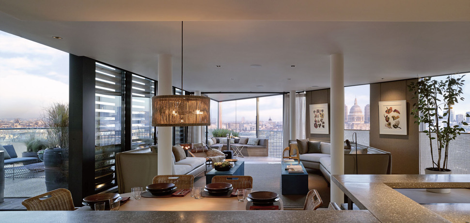Delightful View In Gallery Luxurious London Penthouse  With Angular Architecture 6 Corner  Awesome Ideas