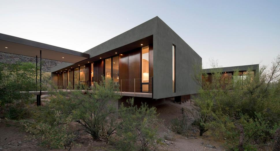 Desert house with awesome viewing veranda next to pool - Villa decor desert o architecture ...