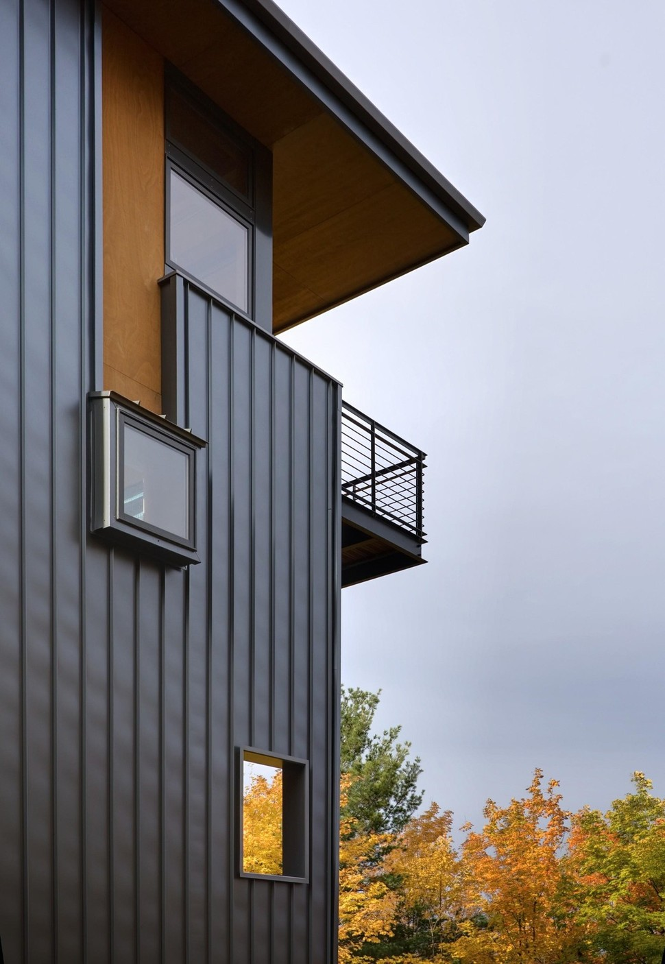 Design Of House Windows Modern Doors And: 4-Storey Tall House Reaches Above The Forest To See The Lake
