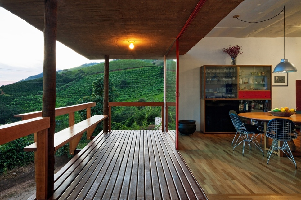 View In Gallery Centrally Located Glass Walkway 2 Structure Farmhouse 6