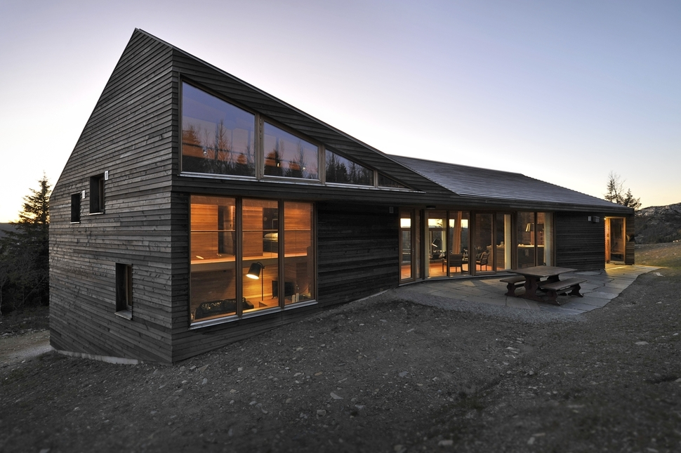 Multi Level Terrain House Design in Norway Mountains