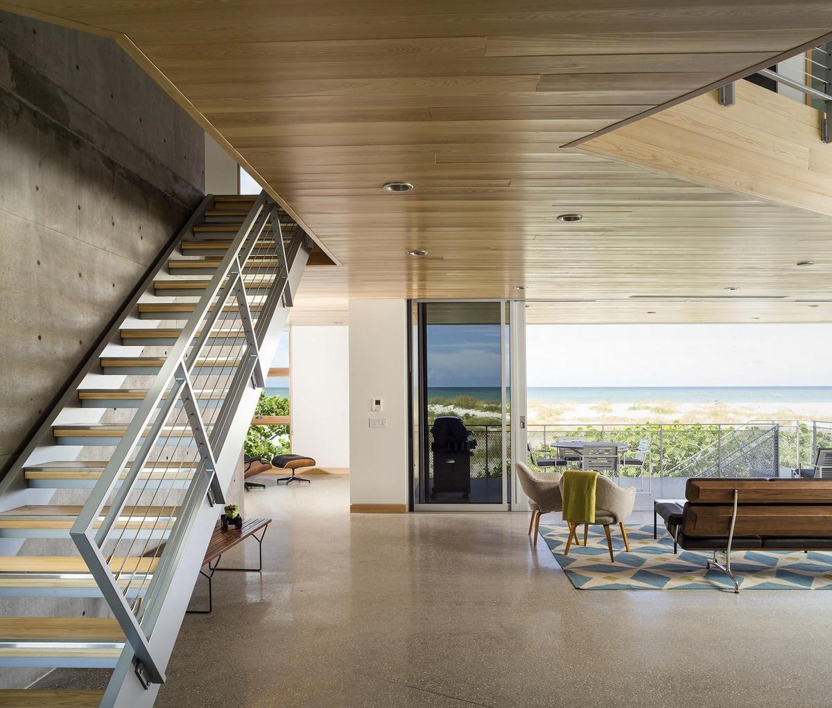 Home Design Ideas Architecture: Beachfront House Built With Poured Concrete To Withstand