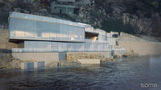 amazing glass home on the edge of sea and rock 2 thumb 630xauto 53664 Amazing Glass Home on the Edge of Sea and Rock