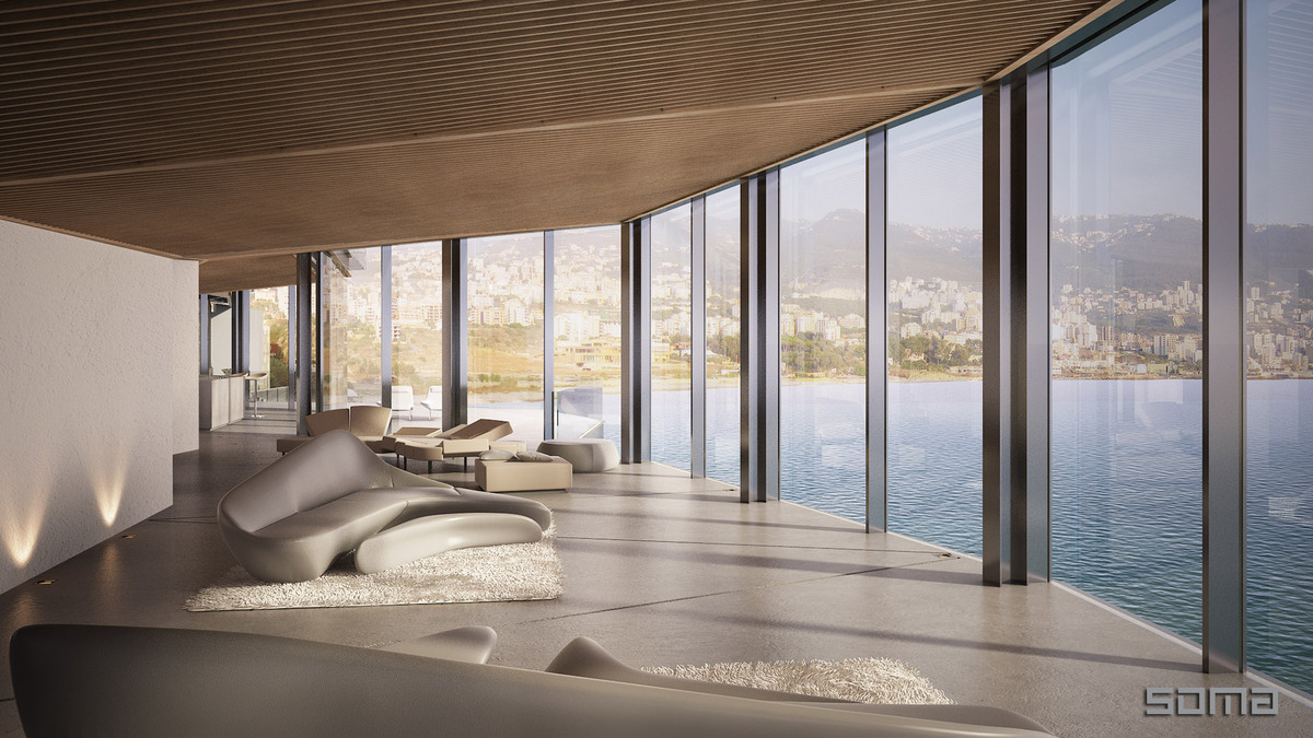 View in gallery amazing glass home on the edge of sea