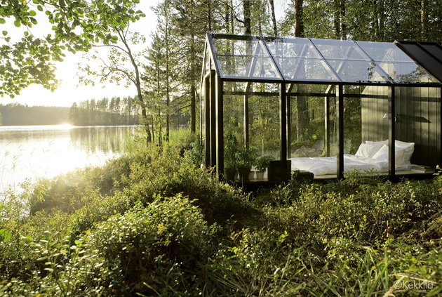 mini house inside greenhouse kekkila shed 1 thumb 630xauto 53887 Combine Garden Shed and Green House, Get a Fairytale like Dwelling