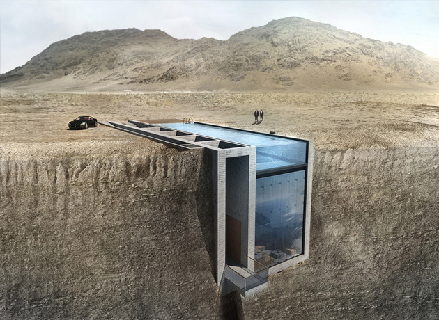 futuristic house on edge of cliff 1 has swimming pool for roof thumb 630xauto 54313 Futuristic House on Edge of Cliff Has Swimming Pool for Roof